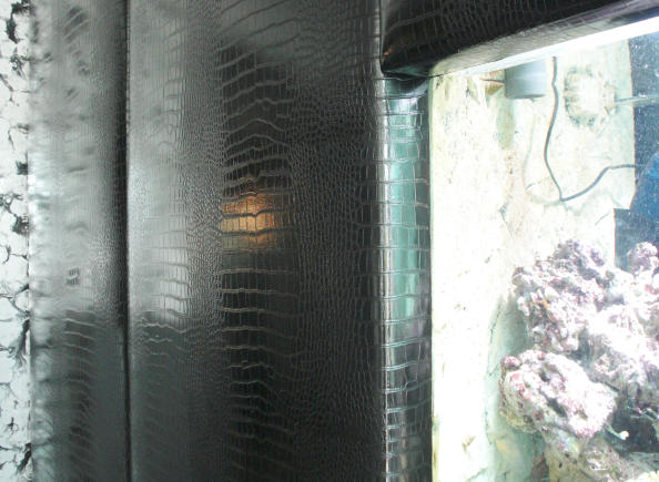Wall cladding with buffalo leather